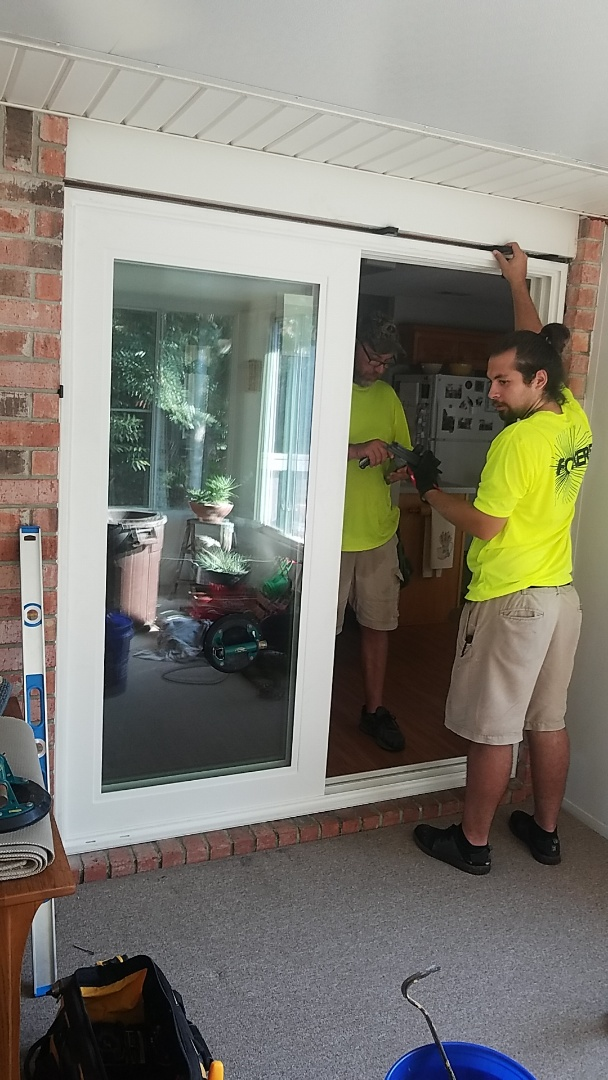 Install impact schwinco sliding glass door
