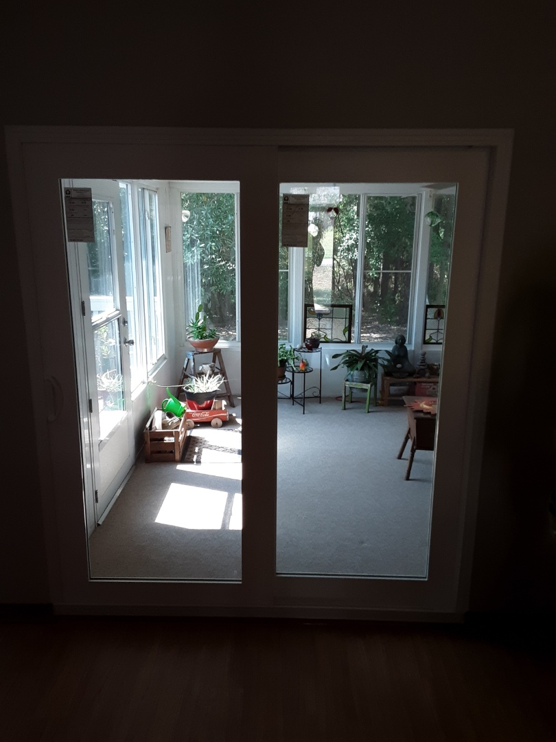 Replacing sliding glass door