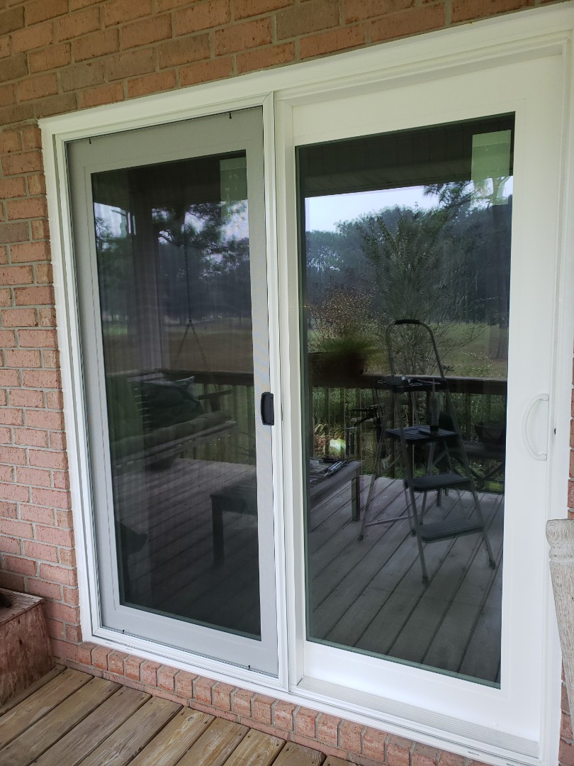 Installed Schwinco replacement sliding glass door