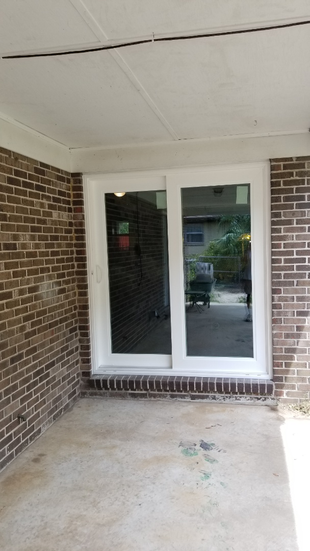 Bellview, FL - installed new Shwinco impact rated sliding glass doors in Pensacola, Fl