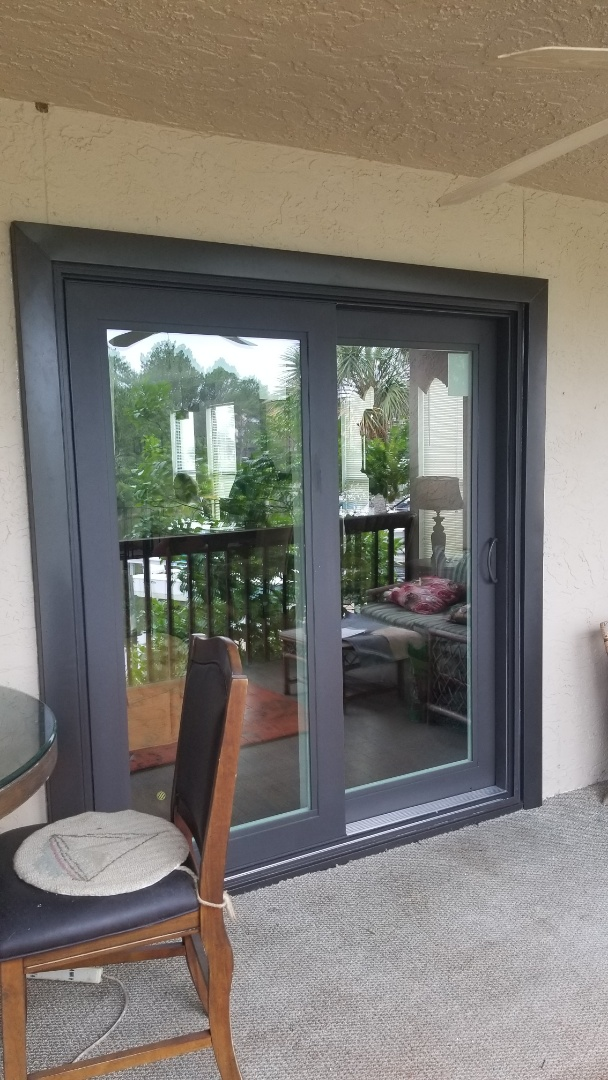got back from installing a new Shwinco impact rated sliding glass door in Gulf Shores, Al