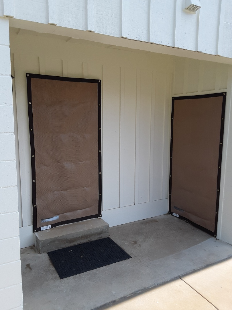 Milton, FL - Another clean hurricane screen installation by Folkers window company.