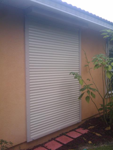Installed eight hurricane protection roll down shutters