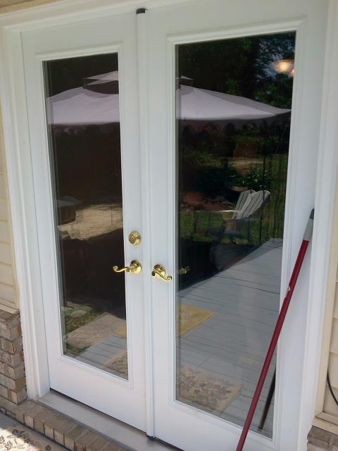 Shalimar, FL - Installed a Shwinco impact French door in place of the sliding glass door that was there