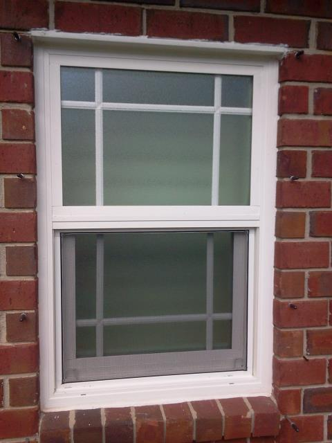Talked about some new white vinyl low-e argon grid windows for this customer