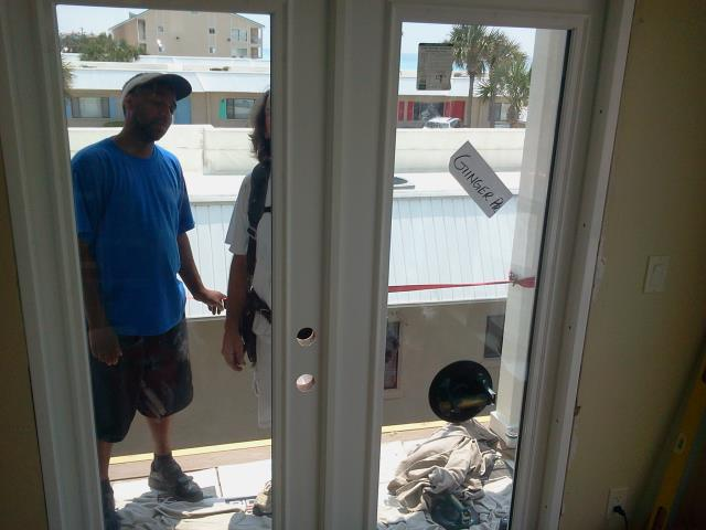 Milton, FL - Installed two french doors with Fiberglass Boise Cascade