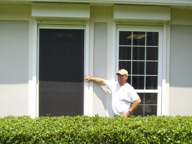 Loxley, AL - Installed roll down hurricane protection on windows