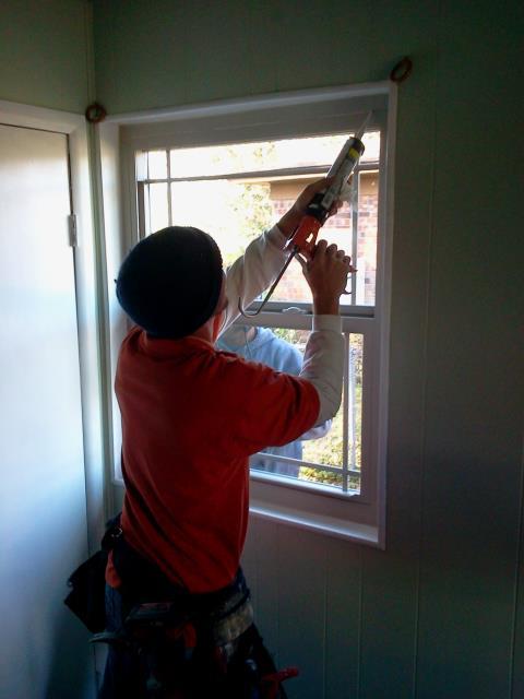 Loxley, AL - Installing four Shwinco impact windows