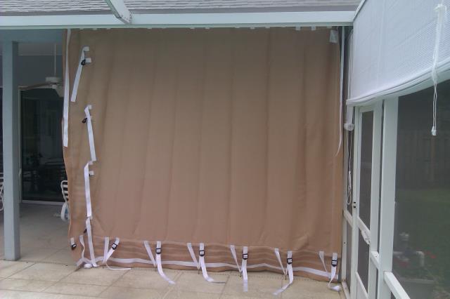 Shalimar, FL - Installed fabric hurricane protection