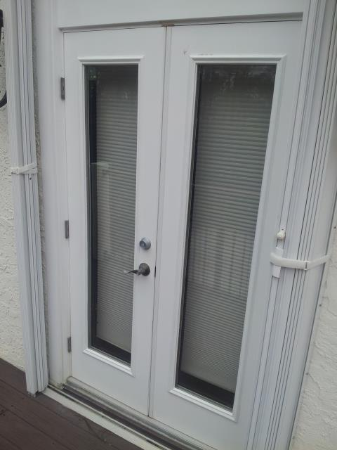 Silverhill, AL - Installed a French door in place of the sliding glass door that was there