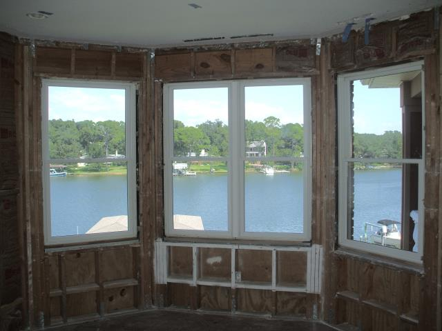 Silverhill, AL - Installing a beautiful bay impact window