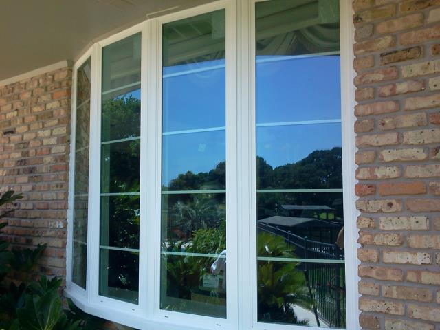 Installed a bay impact window in brick home