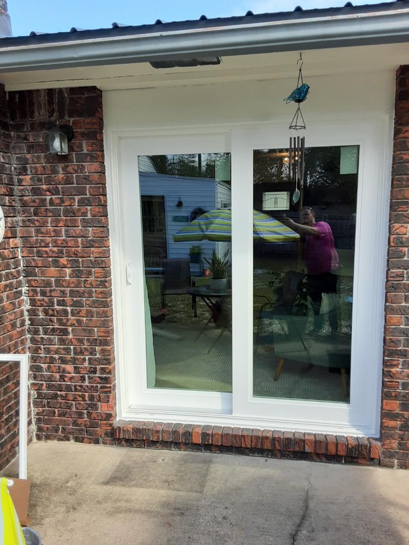 Shwinco sliding glass door installation By Folkers Window Company