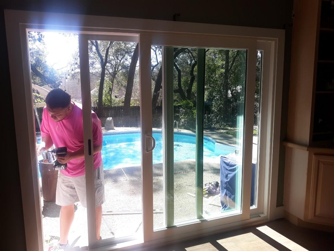 Fort Walton Beach, FL - Viwinco impact sliding glass door install