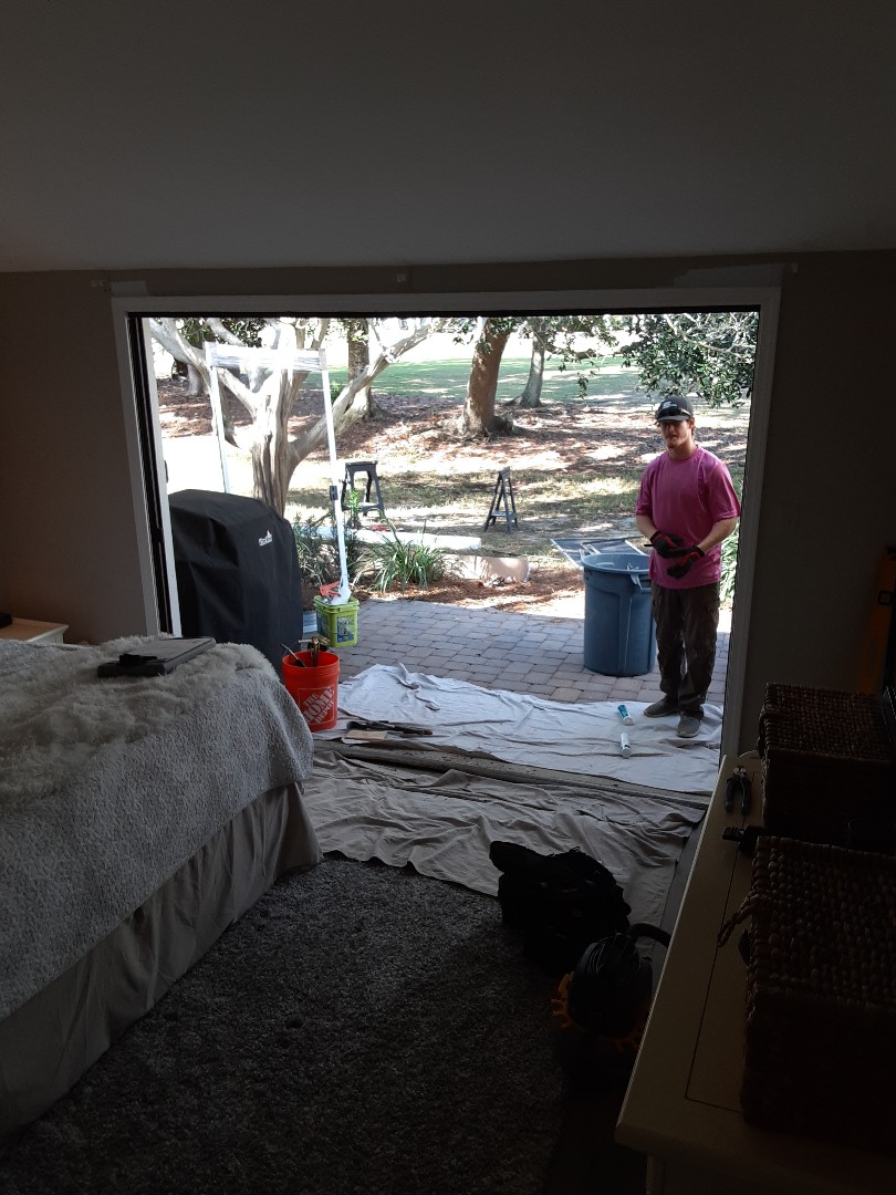 Destin, FL - Installed a Triple Sliding glass door