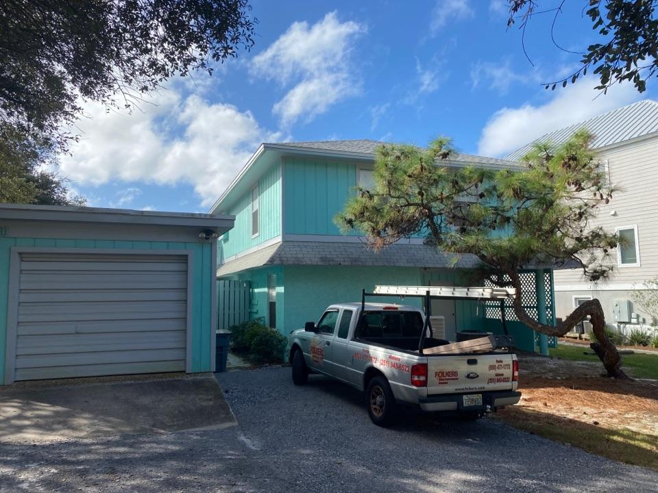 Santa Rosa Beach, FL - Measuring for impact replacement shwinco single hung windows in Santa Rosa beach Florida