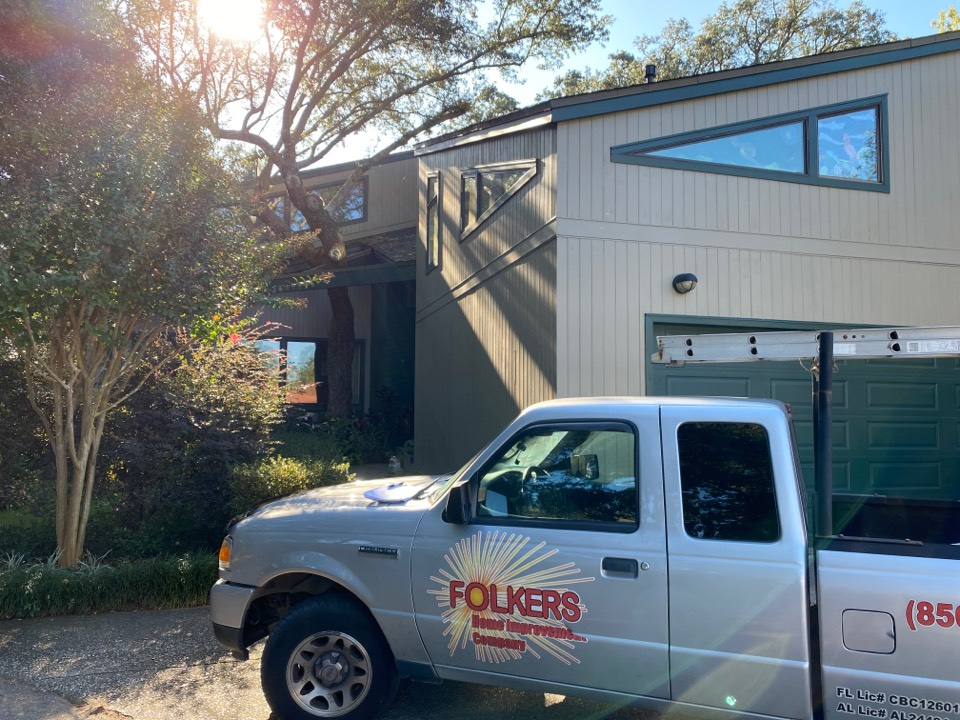 Fort Walton Beach, FL - Meeting with builder to talk about rolling hurricane shutters