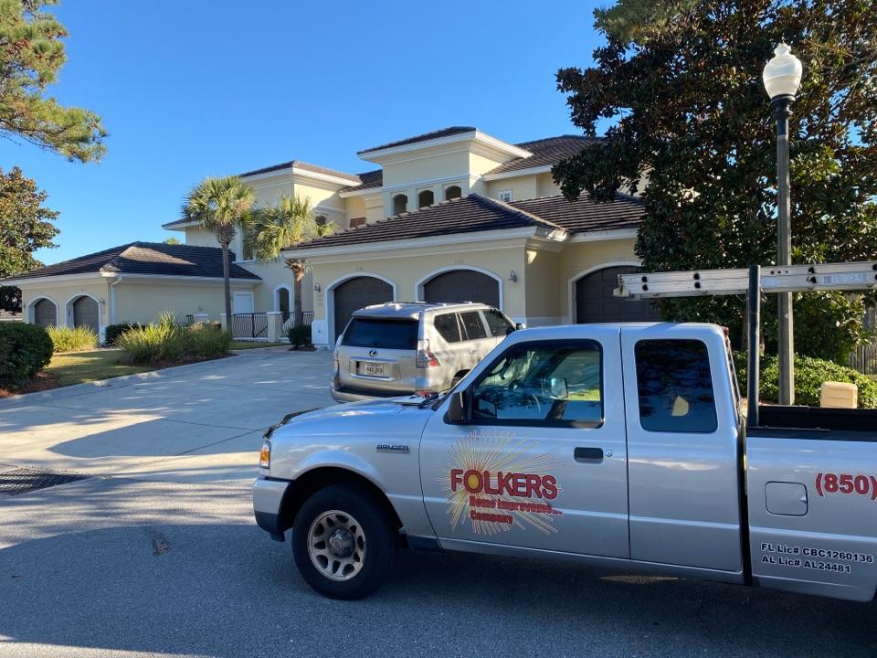 Miramar Beach, FL - Measuring for impact replacement shwinco swing doors in Miramar beach Florida