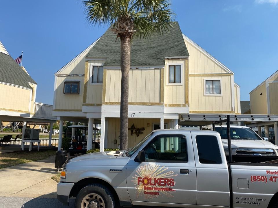 Destin, FL - Measuring for impact replacement shwinco single hung windows and sliding glass doors in Destin Florida