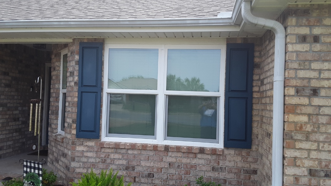 New white vinyl low-e argon double hung windows for this customer in impact