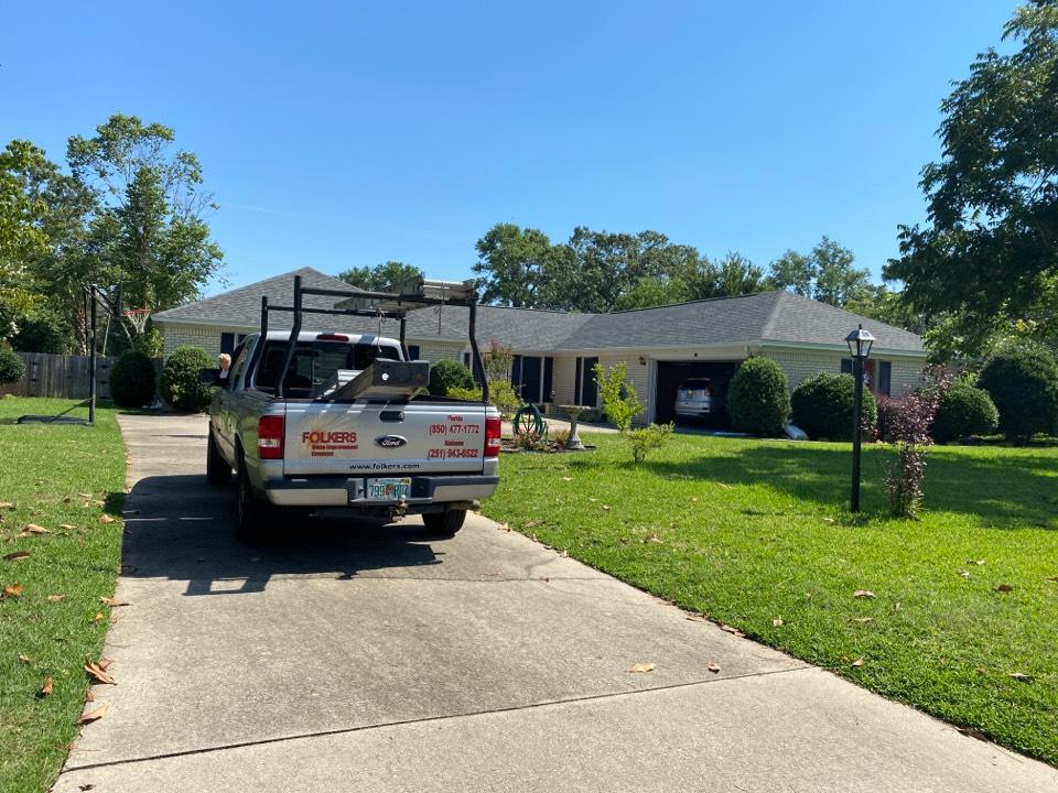 Measuring for impact replacement shwinco single hung windows in Pensacola Florida
