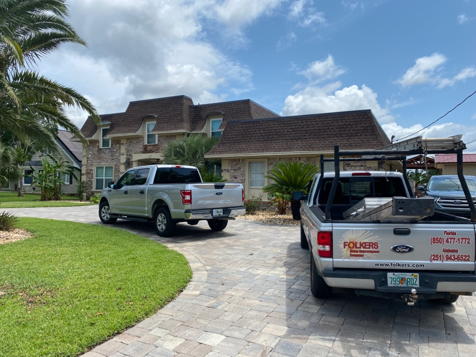 Fort Walton Beach, FL - Measuring for impact replacement shwinco sliding glass doors and replacement windows in fort Walton beach Florida