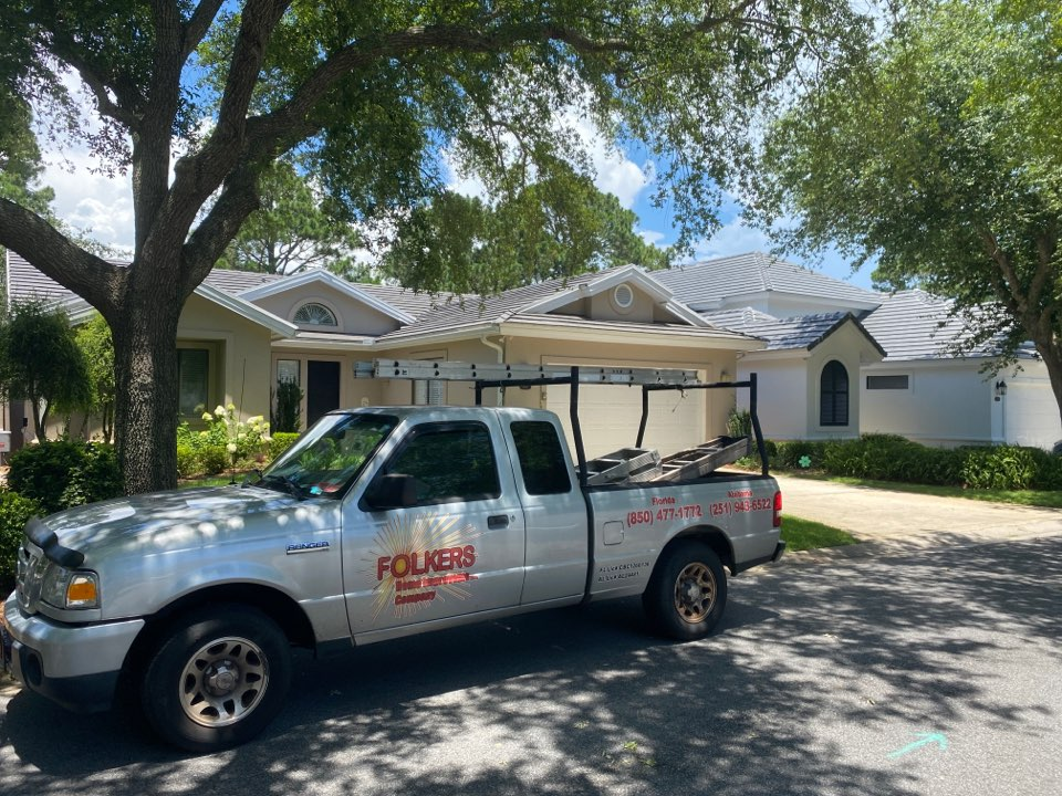 Destin, FL - Measuring for impact replacement Viwinco casement windows,fixed picture windows and sliding glass doors in Miramar beach Florida