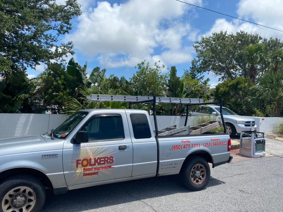 Fort Walton Beach, FL - Measuring for impact replacement shwinco awning windows on okaloosa island fort Walton beach Florida