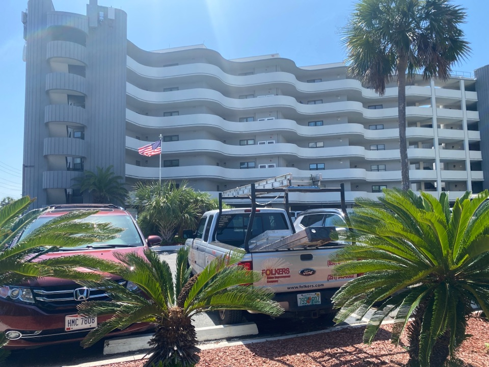 Fort Walton Beach, FL - Measuring for impact replacement shwinco sliding glass doors and fixed picture windows on OKALOOSA ISLAND FORT WALTON BEACH FLORIDA