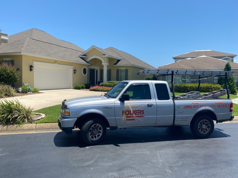 Gulf Breeze, FL - Measuring for impact folkers rolling shutters in Tiger point gulf breeze Florida