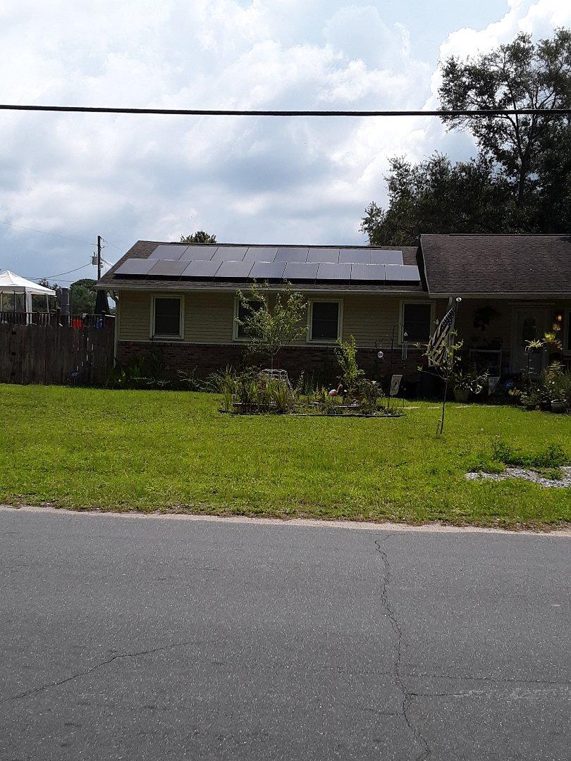 Fort Walton Beach, FL - White vinyl Loki argon non-impact rated windows with hurricane protection for this customer