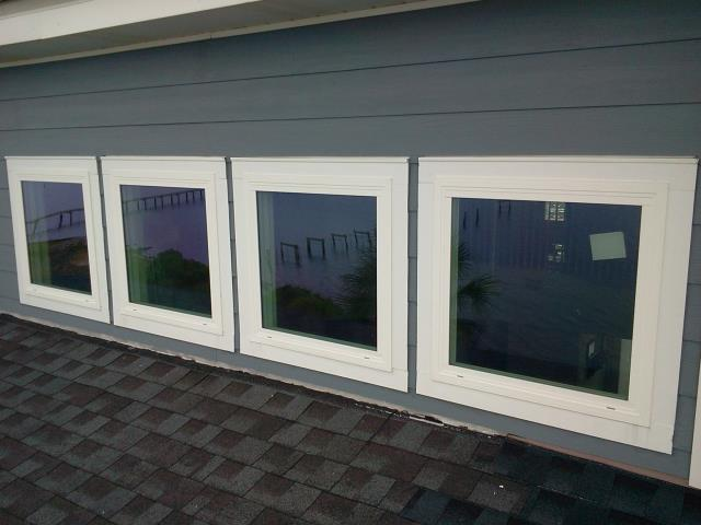Replaced for four impact windows from Simonton