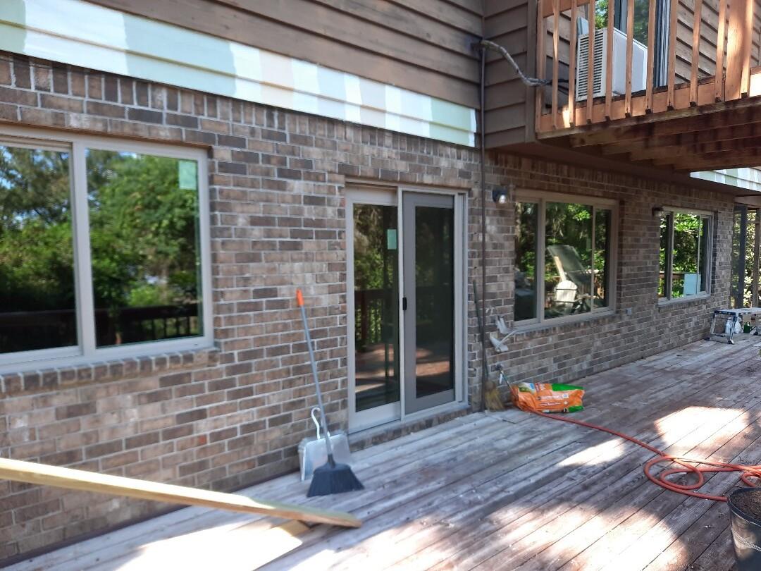5 shwimco impact, horizontal sliders, 1 Boise, Thurma Tru French Door, and 2 Shwinco Impact Slidding glass doors.