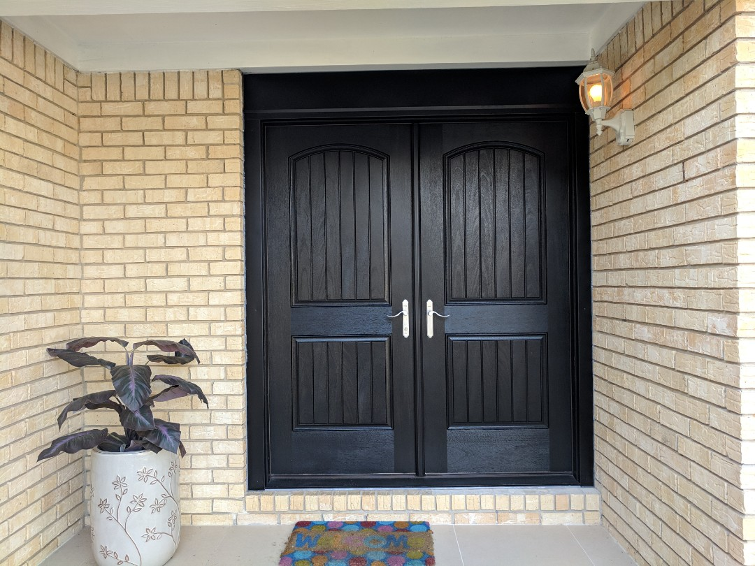 Admiring a new set of Therma Tru doors we installed recently