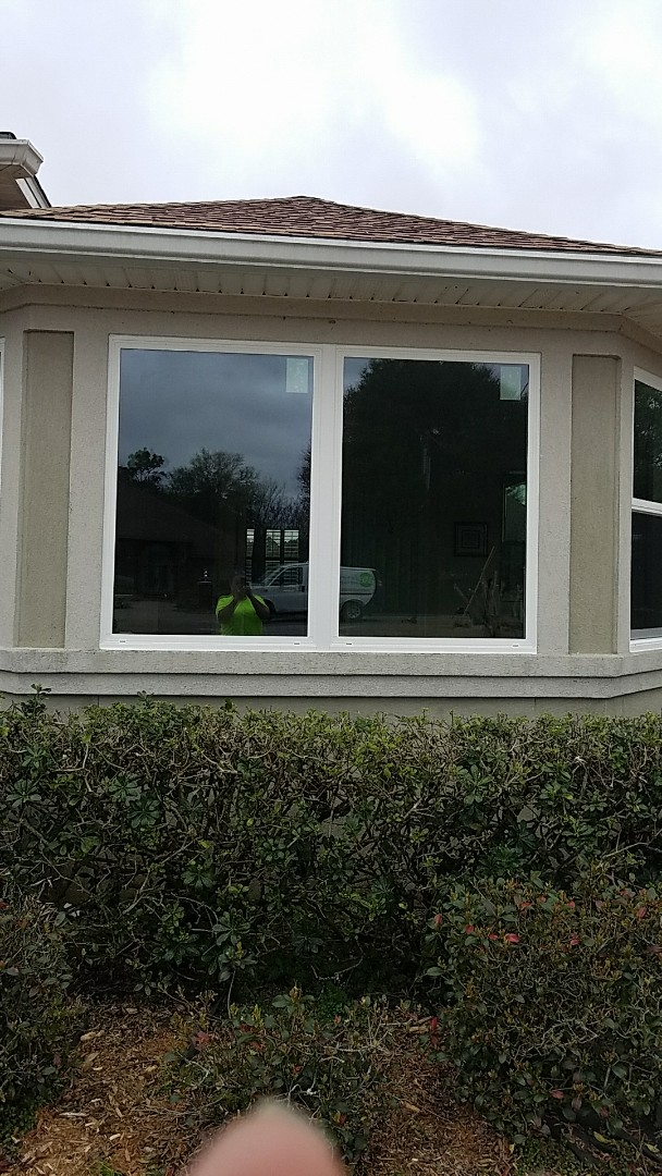 Installed Schwinco impact replacement picture windows