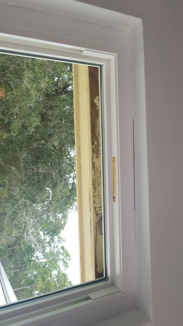 Fixing the caulking around windows