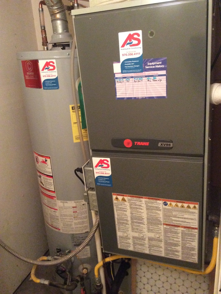 Milliken, CO - Maintance on a TRANE furnace.