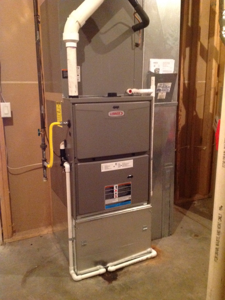 Platteville, CO - Install new Lennox high efficiency furnace.