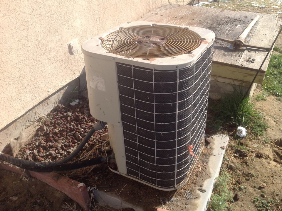 Briggsdale, CO - Repair on a Nordyne air conditioner. Replaced condenser fan motor.