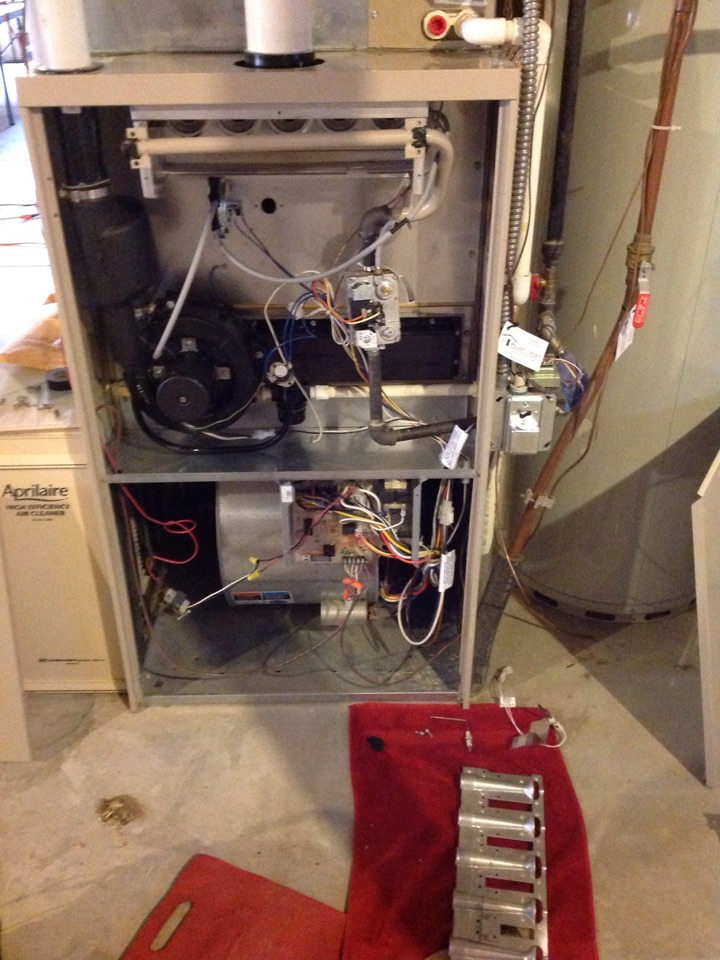 Severance, CO - Preforming maintenance on LENNOX furnace.