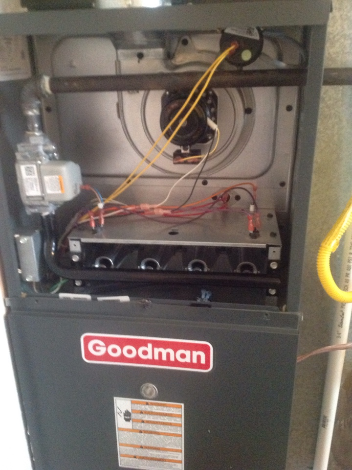 Windsor, CO - Preformed TUNE UP AND CLEAN ON GOODMAN furnace.