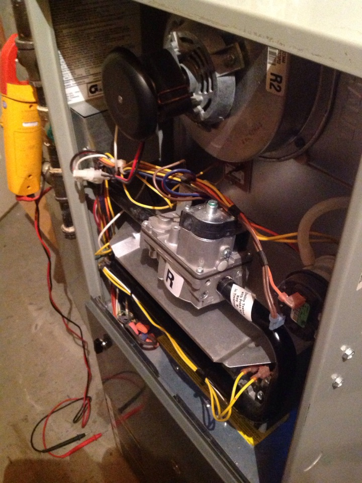 Windsor, CO - Replacing blower wheel on a carrier  furnace.