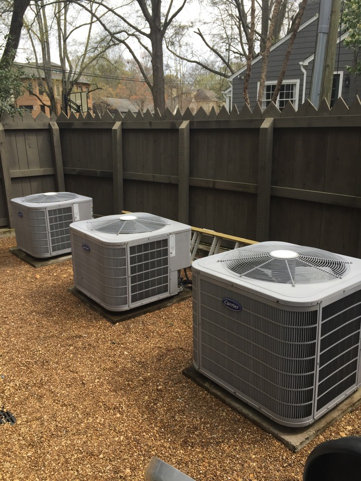 Mountain Brook, AL - Performing cooling maintenance on 3 systems.