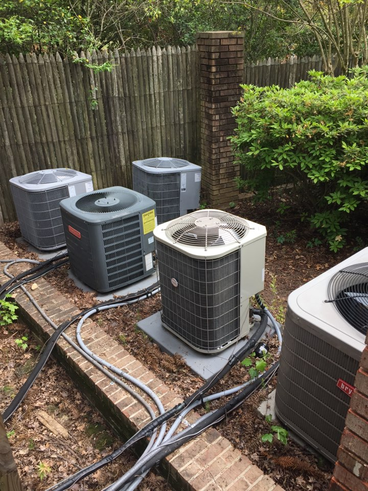 Mountain Brook, AL - Performing MEA cooling maintenance on 6 systems.