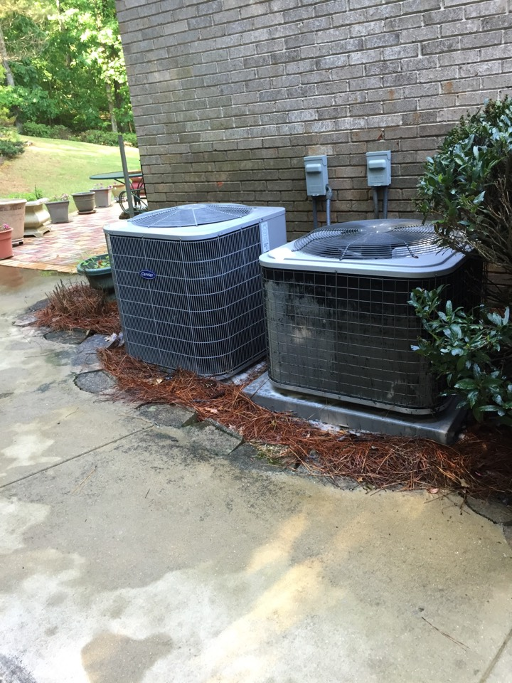 Trussville, AL - Performed Cooling MEA Maintenance on 2 Carrier Systems.