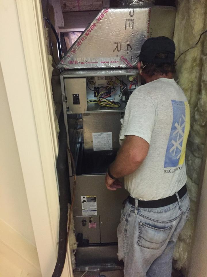 Homewood, AL - Installing 2 ton Bryant Heat pump system.