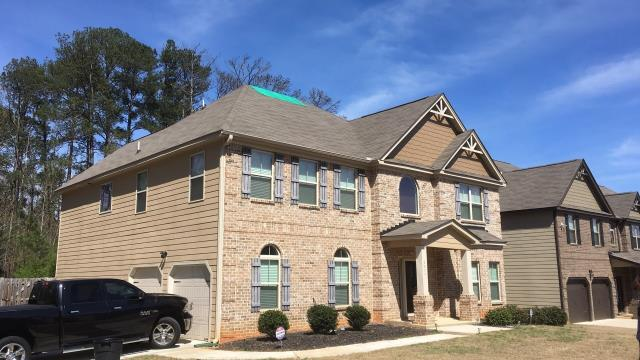 College Park, GA - Storm damage on roof, free roof inspection complete