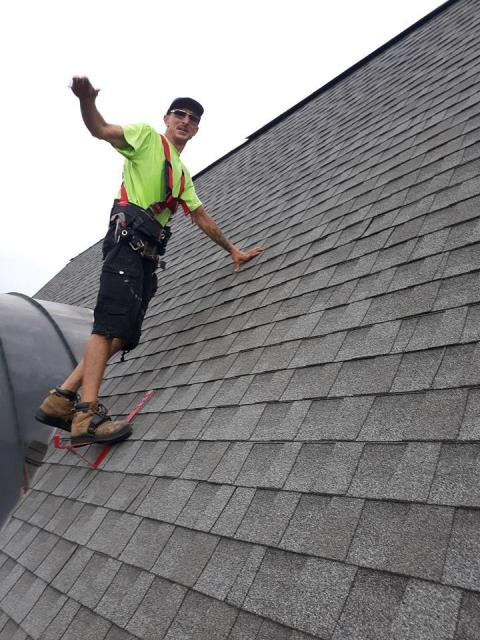 Alpharetta, GA - roof repair complete, shingles slipping from poor installation