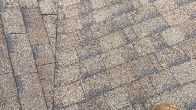 Roswell, GA - lots of granular loss on this roof, mainly due to poor ventilation, age and foot traffic.