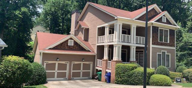 Atlanta, GA - This homeowner is updating his property, new gutters, AC unit, roof. He is looking for professional contractors to help him. We gave him a drone roof inspection as well as financing options for replacing his roof and gutters.